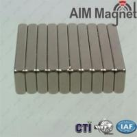 Custom Size Power Permanent Sintered Neodymium Magnet block 26x14x4mm Manufactures