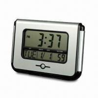 Battery-operated LCD Clock with FM Radio, Alarm and Snooze Function Manufactures