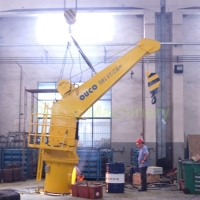 TTS Straight Boom Vessel Small Marine Cranes With SWL 4T 2.6M Manufactures