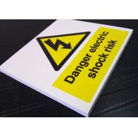 Real Estate Outdoor PVC Sign Board Warning Function White Fire Retardant Manufactures