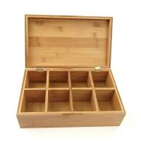 China Stackable Wooden Box Tea Bag Chest Antibacterial Environmental Friendly on sale