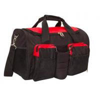 Black 600D Polyester Gym Bag With Shoe Compartment OEM / ODM Acceptable Manufactures