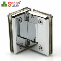 China Hotel Bathroom SS Door Fittings Stainless Steel Flag Square Spring Hinge on sale