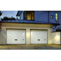 China Artistic Brown Overhead Garage Doors Folded With Thermal Insulation on sale
