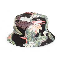 China print floral pattern cotton twill stylish costom lable bucket hat on sale