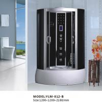 China Black Mirror Back Computerized Glass Steam Shower Room on sale