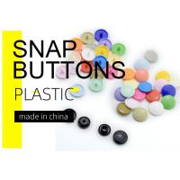 Coloured Plastic Snap Bulk Button For Baby Clothes Eco - Friendly
