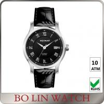 Ladies Luminous Wrist Watch Leather Strap , Crocodile Pattern Mens Nursing Watches Manufactures