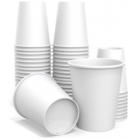 China Milk Tea White Xmas 207.015ml 7 Oz Disposable Paper Cups With Lids on sale