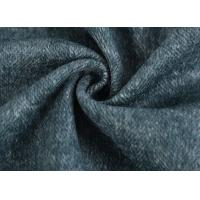 Heavyweight Herringbone Wool Fabric / Medium Weight Wool Fabric For Overcoats Manufactures