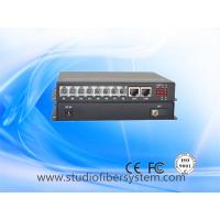 8Port Telephone line to Fiber Converter with 2ch gigabit ethernet for armed police system Manufactures