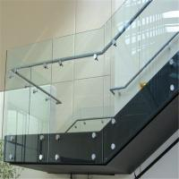 Indoor stainless steel standoff glass balustrade for staircase Manufactures