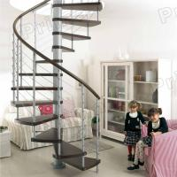 Buy cheap PVC Handrail Solid Wood Spiral Staircase from wholesalers