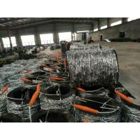 2mm * 2mm  1.6mm * 1.6mm Galvanized Barbed Wire, Hot Dip Galvanized Iron Wire Fence Manufactures