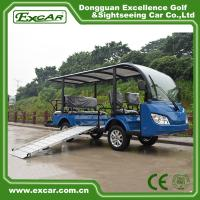 China 8 Seater Electric Shuttle Bus With 12*6v Trojan Battery Steel Alloy Frame on sale