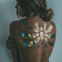 Skin jewelry metallic real looking temporary tattoos / body sticker jewelry Manufactures