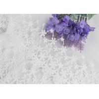 Wide Handmade Flower Embroidered Tulle Lace Trim For Winter Wedding Dressmaking Manufactures