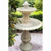 China Two Tier Fountain, Made Of Fiberglass, UL And CE Approved, Outdoor Using Traditional Styling on sale