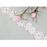 Daisy Venice Lace Trim Organic Cotton Padded Lace Trim Water Soluble Dress Ribbon Manufactures