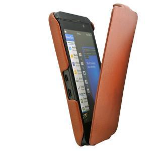 Plain PU leather flip protective cover case for Blackberry phone model Z10, premium, slim, Manufactures