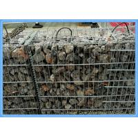 China Zinc Coated Welded Gabion Baskets , Stone Filled Wire Cages Square /  Rectangular Hole on sale
