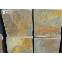 Rusty Yellow Natural Slate Floor Tiles Non Slip Wear Resistant OEM / ODM Service Manufactures