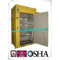 Hazardous Waste Storage Buildings Chemical Locker For Gas Cylinder / Oil Drum Manufactures