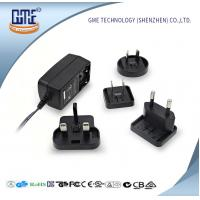 Interchangeable Plug AC DC  Wall Adapter 24w Max Output With LED Light Manufactures