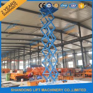 CE 6.65m 500Kgs Electric Scissor Lift Hydraulic Scissor Cargo Lift for Warehouse Manufactures