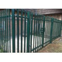 China Powder Coated or Galvanized W D Section Palisade Security Fence on sale
