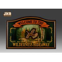 MDF Animal Wall Decor Wooden Wall Plaques Antique Wood Pub Signs Resin Duck Green Color Manufactures