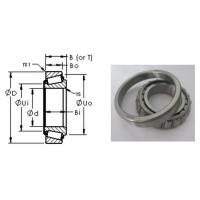 Auto Track Industrial Chrome Steel Tapered Roller Bearing 31320 100 x 215 x 56.5 mm