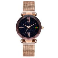 China 32mm Multi Color Alloy Case Fashion Ladies Fashion Wrist Watch with Magic Mesh Band on sale