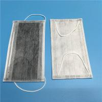China Latex Free Cleanroom Consumables Non Woven Carbon Face Mask 4 PLY Earloop on sale