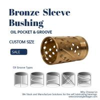 China Thin Wall Split Oil Groove Bronze Bushings Brass Bearings Oil Socket For Construction Machinery on sale