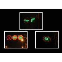 Waterproof Closed Warning Solar Traffic Signs 1HZ LED Flashing Signs Manufactures