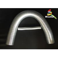 Strong Aluminum Foil Auto Air Duct Hose , Fiberglass Flexible Exhaust Duct Manufactures