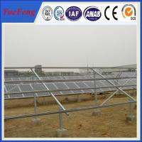 anodized aluminum 6005-T5, galvanized Q235, ground solar mounting structure Manufactures