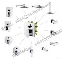 Quality concealed square brass shower faucet,Bathroom best price concealed bath shower for sale