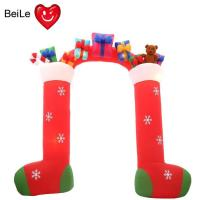Buy cheap Factory price 0.5mm Nylon Oxford red color inflatable santa arch from wholesalers