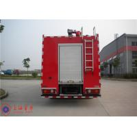 Rotatable Cab Foam Fire Truck Red Printed Inline Eight - Cylinder Engine Manufactures