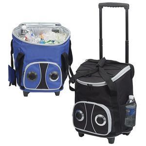 Cooler bag with speaker.