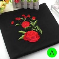 Polyester Embroidered Iron On Patches Appliques With Boutique Rose Flower 19*14 cm Manufactures
