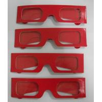 China Paper Stereoscopic 3d Glasses For Watch 3D Games , 405x38mm Size on sale