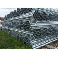 Galvanized Circle Hollow Section carbon steel tube / Hot Rolled Round Steel Tube for Construction Manufactures