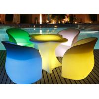 PE Plastic Portable Lighting Led Bar Table Chair For Outdoor Party Night Club Manufactures