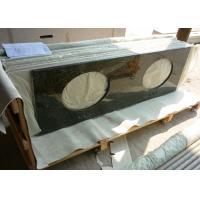 Quality Uba Tuba Granite 61 Inch Prefab Vanity Tops With Double Sink Holes for sale