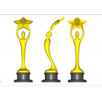 Custom Trophy Awards Shiny Gold / Bronze / Silver Plated Type Optional Manufactures