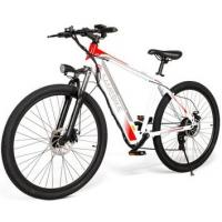 WWW.YOLCART.COM Samebike SH26 High Carbon Steel Mountain Electric Bicycle - White Manufactures