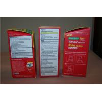 China Customized Corrugated Paper Box Packages with Hot Stamping , Red on sale